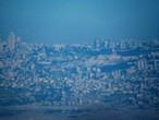 """""""Jerusalem"""" as it appeared from (McCawar Castle) in Jordan on Sunday morning, July 19, 2020"""