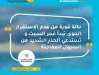 الأردن | حالة قوية من عدم الاستقرار الجوي تبدأ فجر السبت وتستدعي الحذر الشديد من السيول المفاجئة