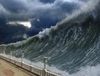 تحذير من موجات المد العالية تسونامي