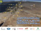 الأردن | حالة الطقس ودرجات الحرارة المتوقعة يوم  الجمعة 2020/2/28