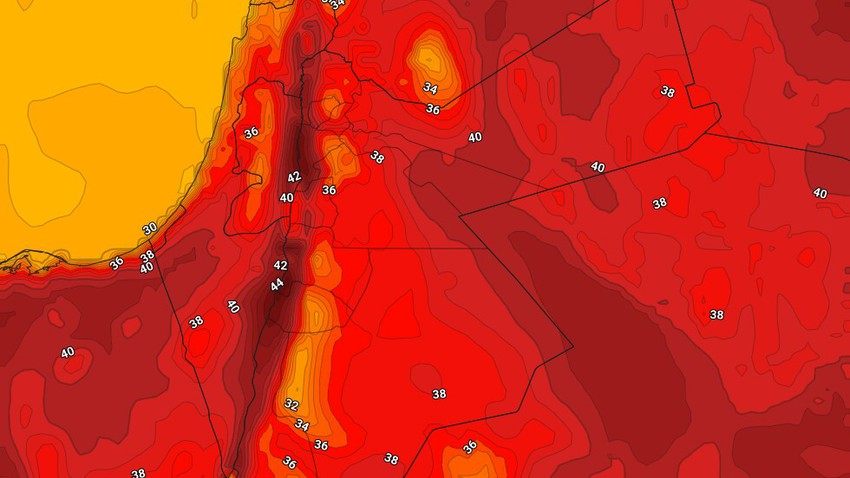 Jordan | The hot air mass continues and the weather turns into a blaze in these areas Thursday