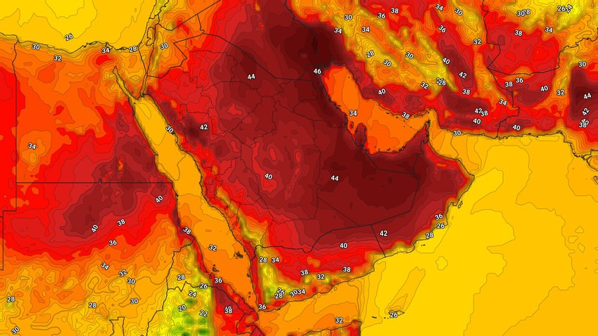 اليمن | حالة الطقس المُتوقعة في الدولة يوم الإثنين 6/9/2021
