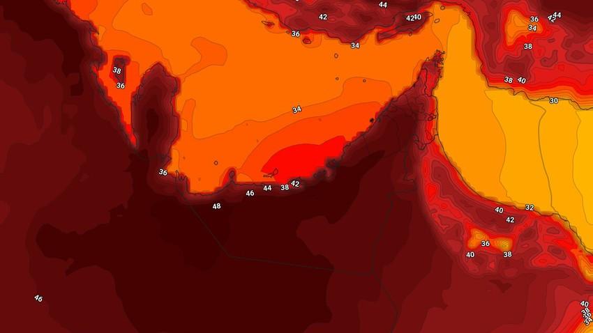 الإمارات | درجات الحرارة تلامس نهاية ال40 مئوية في بعض المناطق الداخلية الثلاثاء