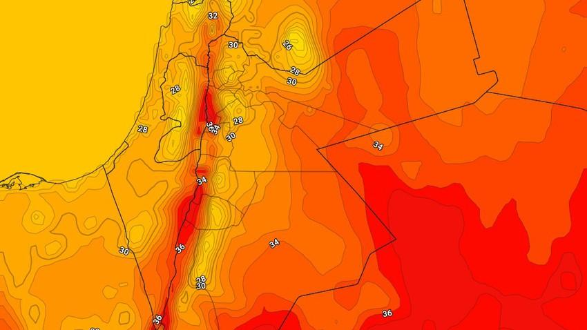 الأردن | كتلة هوائية خريفية مُعتدلة تقترب من المملكة وانخفاض على درجات الحرارة مع إنتشار الغيوم الجمعة