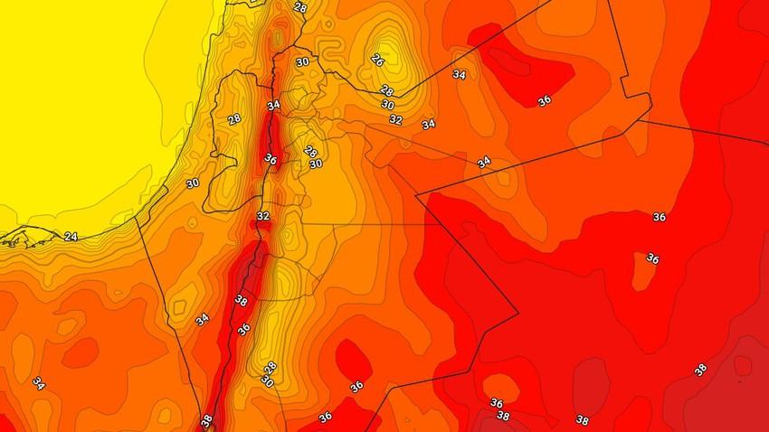 الأردن | بقاء درجات الحرارة أعلى من مُعدلاتها وأجواء حارة نسبياً الجمعة