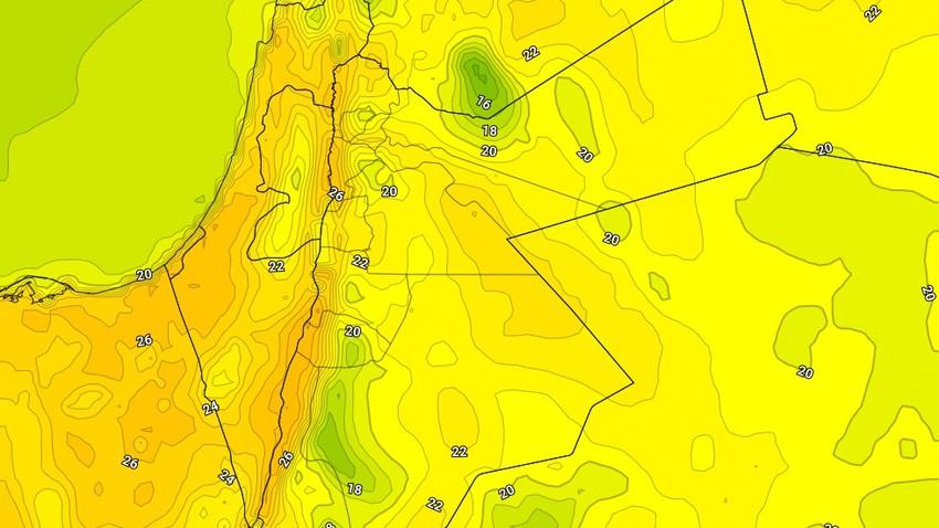 الإثنين   ارتفاع على درجات الحرارة وأجواء اقرب للربيعية في بعض المناطق