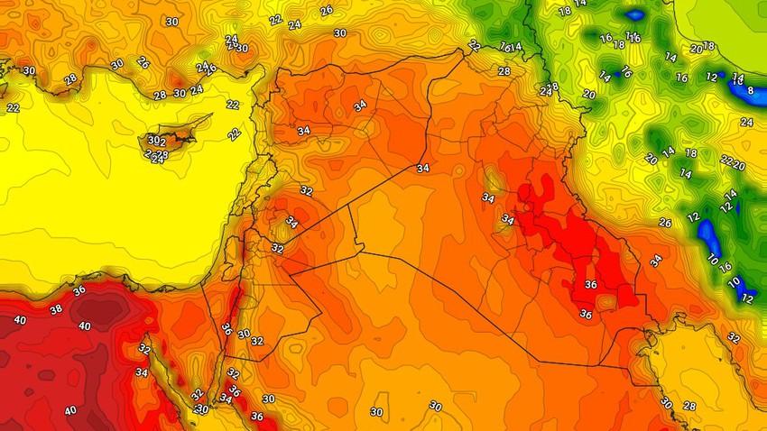العراق | ارتفاع على درجات الحرارة الإثنين واستمرار فرص الامطار الرعدية على بعض المناطق