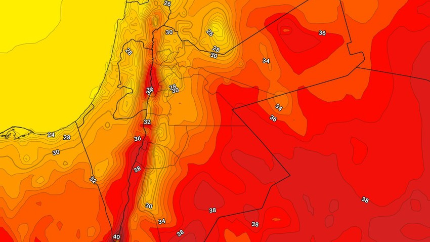الأردن | طقس صيفي إعتيادي في اغلب مناطق المملكة الثلاثاء