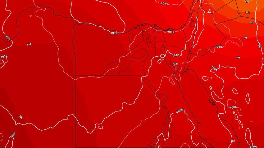 مصر | عودة درجات الحرارة للارتفاع الثلاثاء لتصبح اعلى من مُعدلاتها المُعتادة نسبةً لهذا الوقت من العام