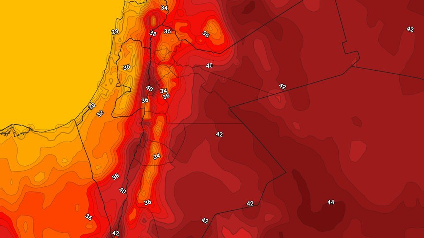 Jordan | A hot, fast-impacting air mass rushes towards the Kingdom on Wednesday