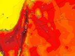 Dimanche | Le pic de la masse d'air chaud a coïncidé avec un état d'instabilité atmosphérique dans certaines zones