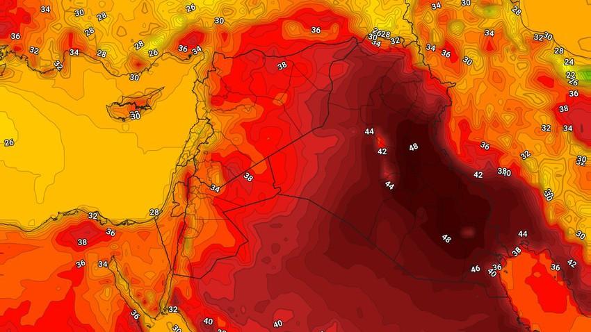 العراق   درجات الحرارة تلامس ال50 درجة مئوية في بعض احياء العاصمة بغداد الثلاثاء