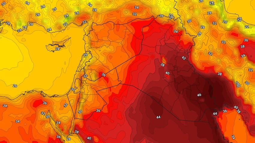 العراق | إستمرار الرياح النشطة والغُبار على المناطق الجنوبية الشرقية الإثنين