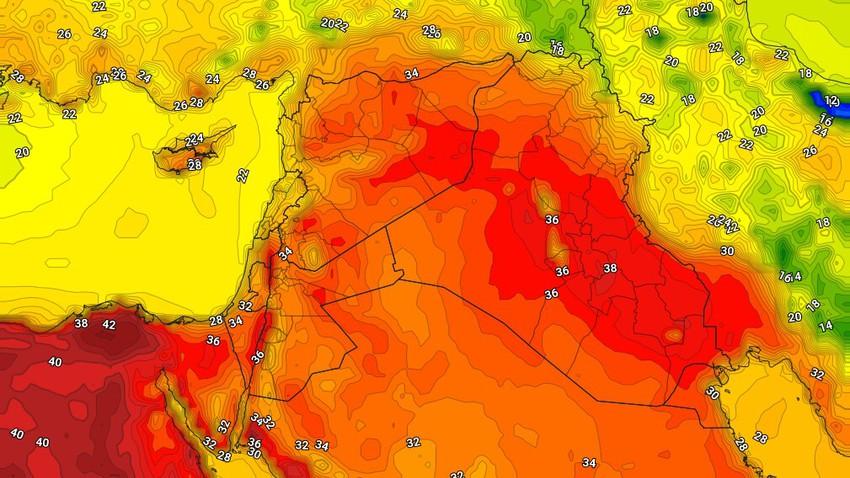 العراق | استمرار الأجواء الحارة الثلاثاء وسُحب رعدية تترافق بالرياح الهابطة على المناطق الشمالية
