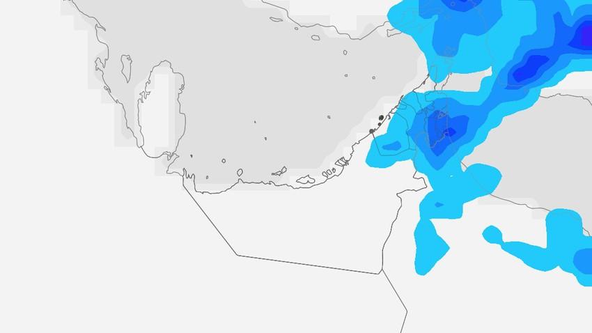 الإمارات | سُحب رعدية ذات طابع عشوائي تؤثر على البلاد يوم الثلاثاء