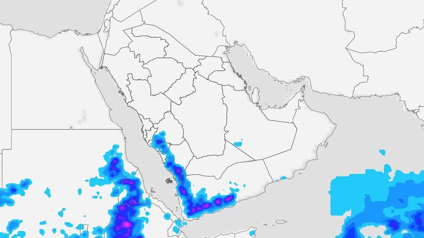 اليمن | عواصف رعدية قوية الثلاثاء وتنبيه من سيول جارفة على الأودية والمناطق المُنخفضة
