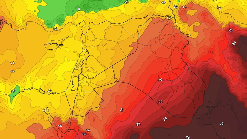 Jordan | The Kingdom's impact on the air depression classified as first-class (weakest) on Thursday evening and Friday night increased