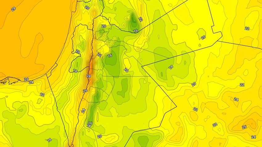 الأردن | درجات الحرارة الليلية تنخفض وعودة الليالي المُعتدلة إعتباراً من ليل السبت/الأحد