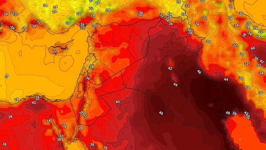 الكويت | طقس لاهب ودرجات الحرارة تلامس ال50 درجة في بعض المناطق