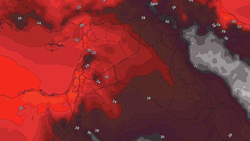 الأردن | إنخفاض مُتوقع على درجات الحرارة لتصبح أقل من مُعدلاتها إعتباراً من الثلاثاء مع ليالي مائلة للبرودة في بعض المناطق