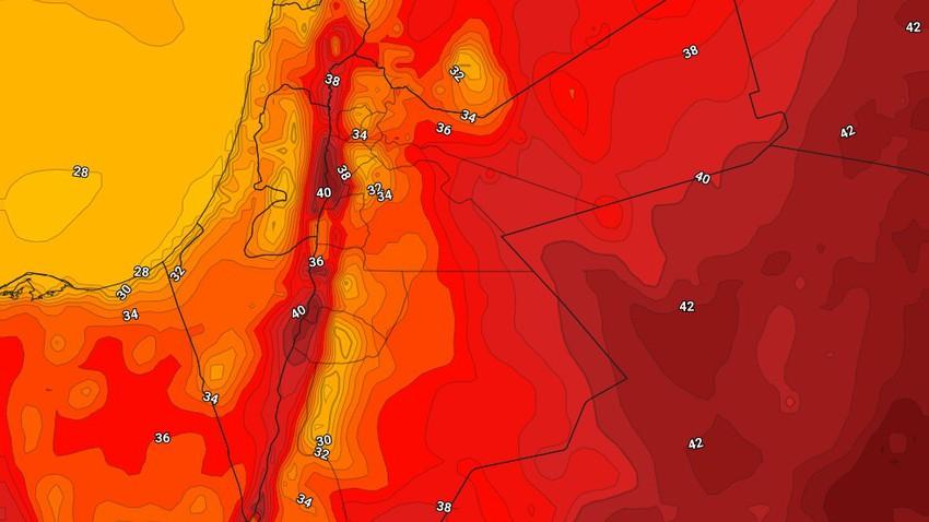 الأردن   طقس حار نسبياً في المرتفعات وشديد الحرارة في المناطق المُنخفضة الأربعاء