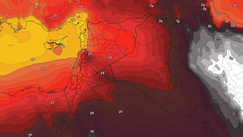 الأردن | طقس صيفي إعتيادي نهاية الأسبوع وتنبيه من الغُبار والأتربة المُثارة في المناطق الصحراوية