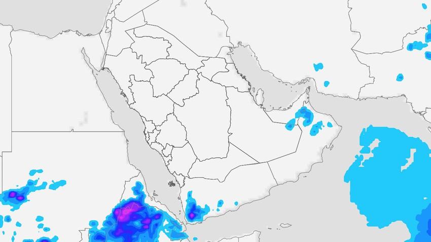 اليمن | إشتداد مُتوقع على حدة السُحب الرعدية فوق المرتفعات الجبلية الثلاثاء
