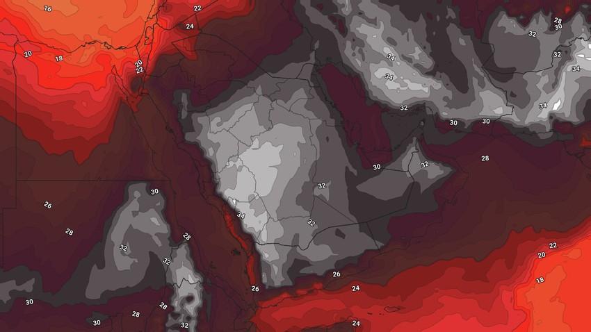الطقس في اليمن   نشاط على سرعة الرياح خلال الأيام القادمة وفرصة لزخات رعدية من الأمطار على اجزاء من المرتفعات الجبلية