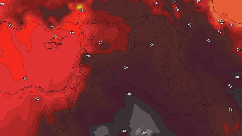 الأردن | عودة درجات الحرارة للارتفاع مع نشاط للرياح الشمالية الغربية يومياً بعد الظُهر