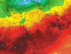 Golfe Persique | Des vents plus froids que d'habitude vers le nord de l'Arabie saoudite, et des vagues turbulentes et de la poussière sur le reste des régions
