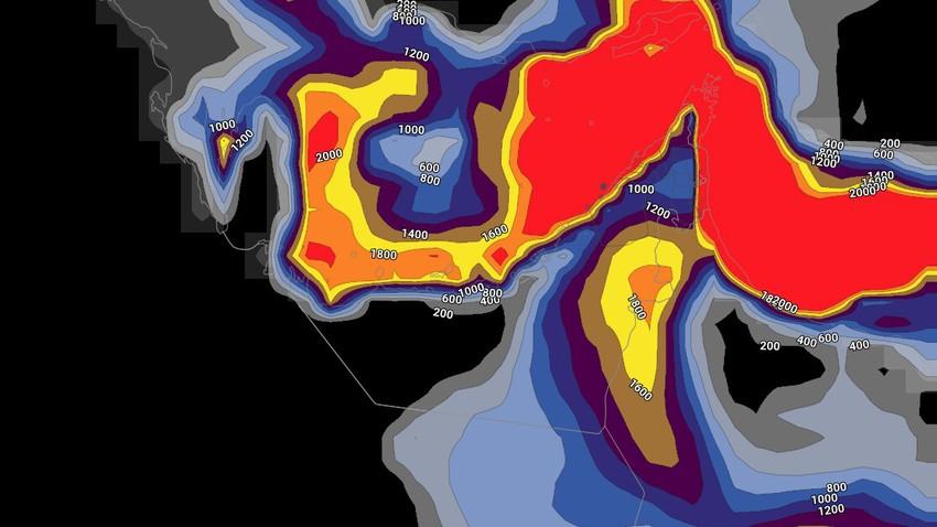 النشرة الأسبوعية للإمارات   طقس حار واستمرار فرص الامطار الرعدية على بعض المناطق