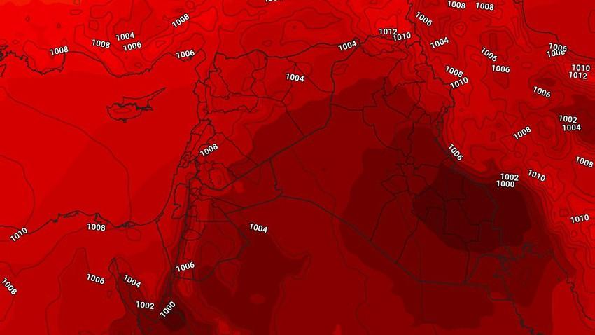 النشرة الأسبوعية للأردن | الموجة الحارة تتراجع حتى مُنتصف الاسبوع وكتلة هوائية حارة جديدة إعتباراً من الأربعاء