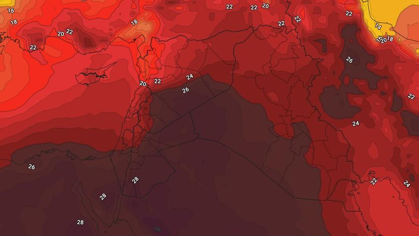 الأردن | طقس حار نسبياً الأحد والإثنين يتحول إلى حار مُنتصف الأسبوع . التفاصيل