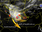 Why did the storm not affect Castilda in the Levant