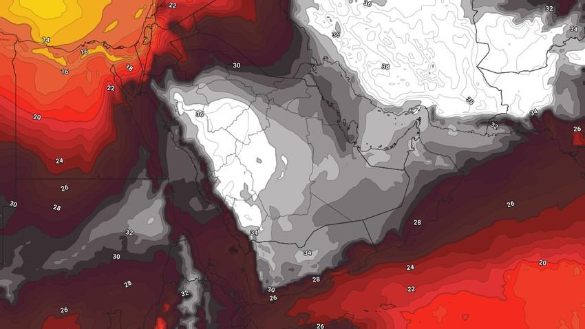 النشرة الأسبوعية لليمن   استمرار الأجواء الحارة على بعض المناطق وفرصة يومية لزخات رعدية من الأمطار على اجزاء من المرتفعات الجبلية