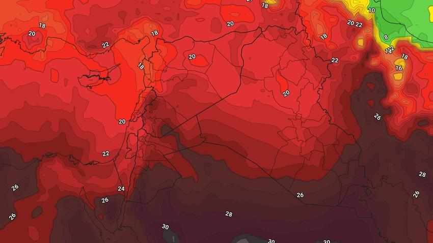 النشرة الأسبوعية للعراق | كتلة هوائية حارة إلى شديدة الحرارة تؤثر على البلاد مُنتصف الأسبوع