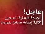 الصحة الأردنية: 57 حالة وفاة و3,301 إصابة محلية جديدة بكورونا
