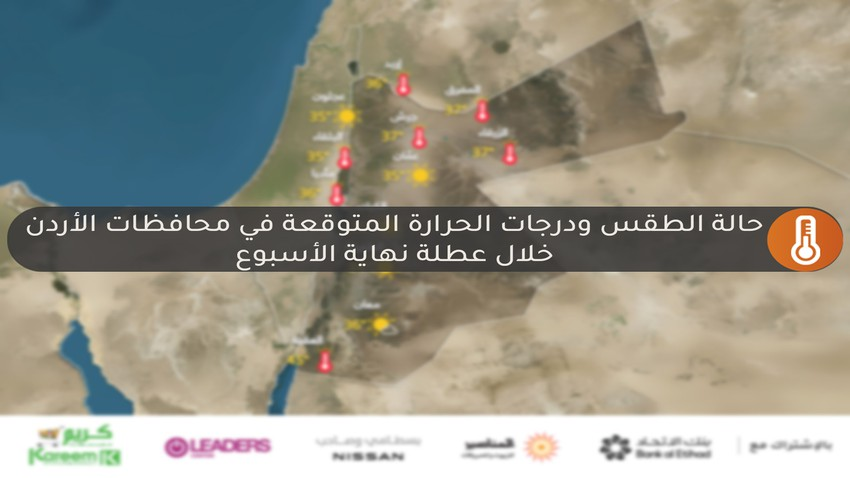 Weather forecast during the first weekend of August in Jordan