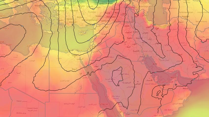 الأردن | توالي درجات الحرارة ارتفاعها وطقس حار نسبياً في أغلب المناطق الجمعة