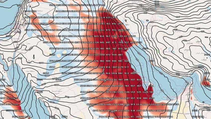 هام   تزايد تأثير الرياح القوية وموجات الغبار على دولة الكويت الأيام القادمة