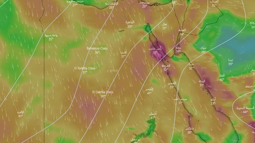 مصر | طقس حارّ إلى شديد الحرارة وتصاعد الأتربة في بعض المناطق الأسبوع القادم