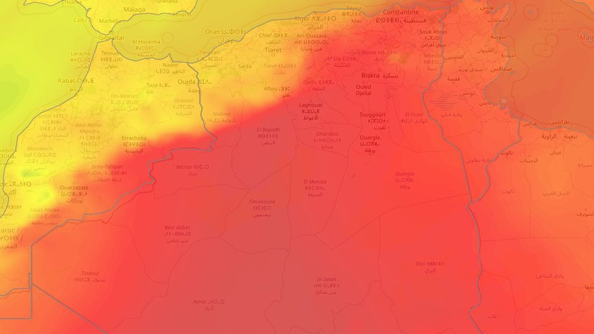 الجزائر | كتلة هوائية حارّة شرقاً وأخرى معتدلة غرباً الأيام القادمة