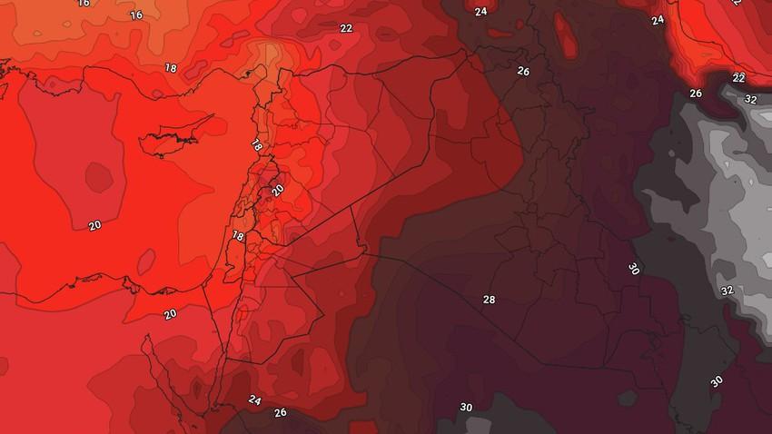 الأردن   كتلة هوائية اقل حرارة من الأيام السابقة تُسيطر على المملكة الإثنين