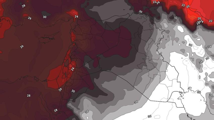 الأردن | استمرار سيطرة كُتلة هوائية حارة نسبياً على المملكة خلال الأيام القادمة