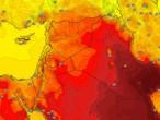 بلاد الشام | كتلة هوائية حارة نسبياً تؤثر على المنطقة اعتباراً من الأربعاء