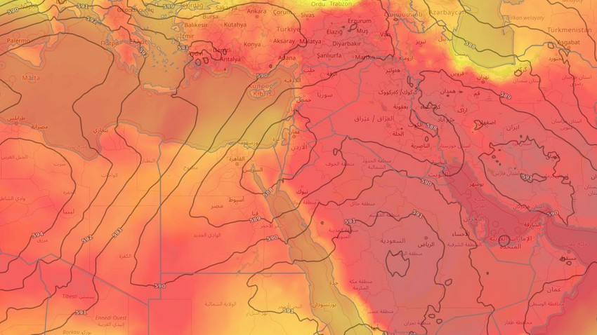 important | The hot mass is deepening and an additional rise in temperature in all regions of the Levant, Wednesday and Thursday..Details and recommendations