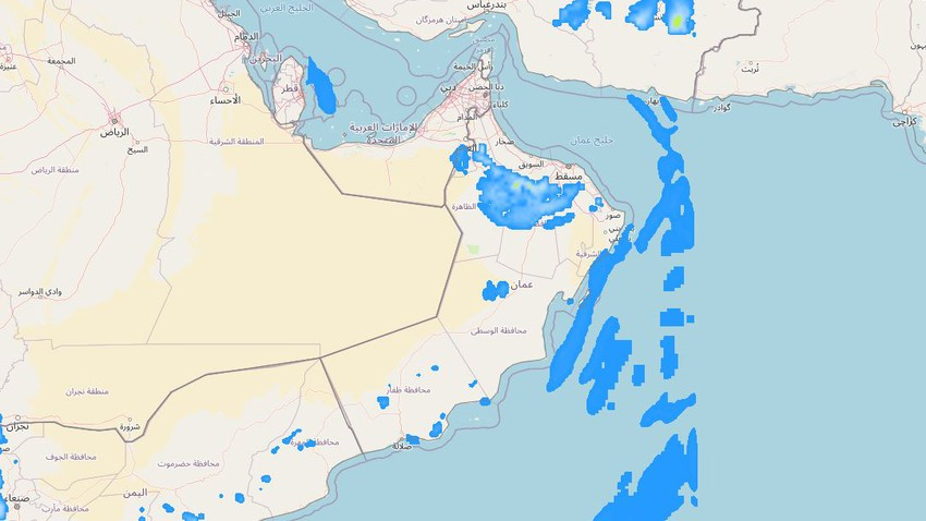 Sultanate of Oman | A tropical wave will cross the region accompanied by thunderstorms in many areas, starting from Sunday