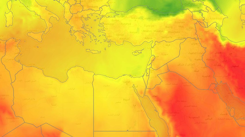 Egypt | A moderate air mass and temperatures below their average continued in most regions during the weekend