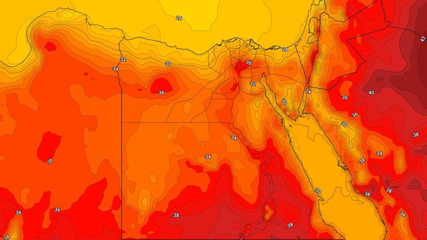 مصر   ارتفاع درجات الحرارة على مناطق القاهرة والوجه البحري الإثنين