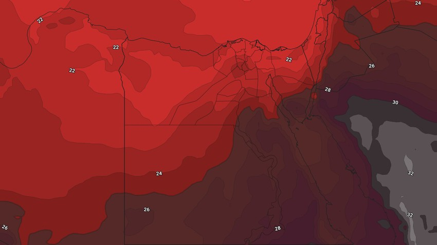 Egypt | Once again, a hot air mass is rushing towards the area and a gradual rise in temperature during the coming days